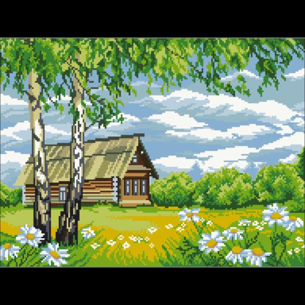 рисунок на канве